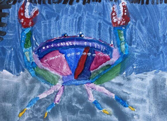 #11 – Happy Crab in the Bay – Kira Kaunitz – Age 8