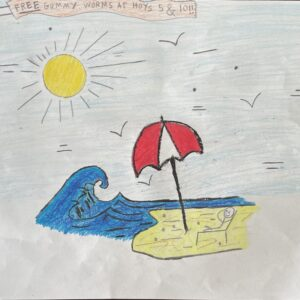 #8 – Relaxing on the Beach – Nicholas Tosti – Age 10