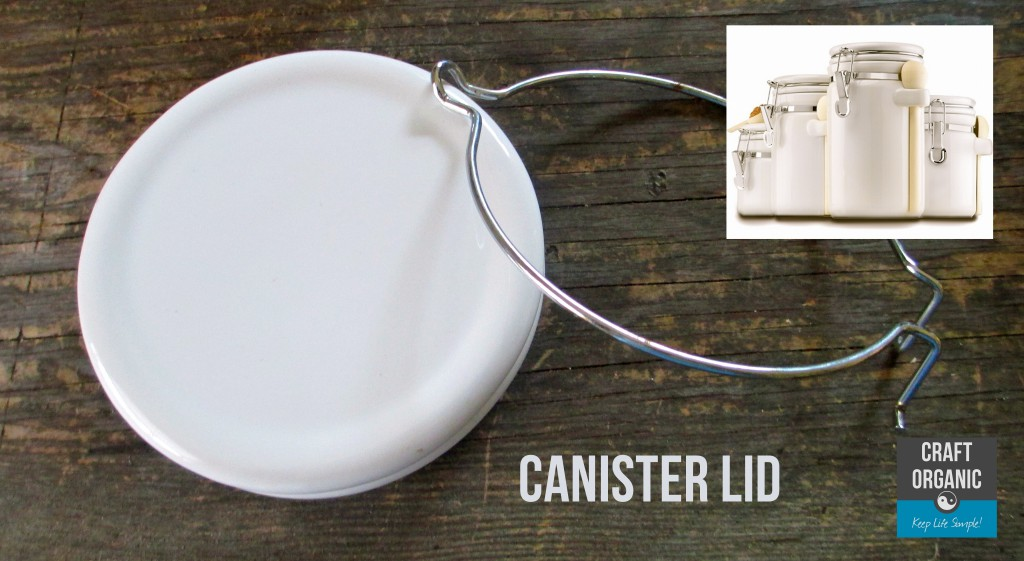 Recycled Canister Lid