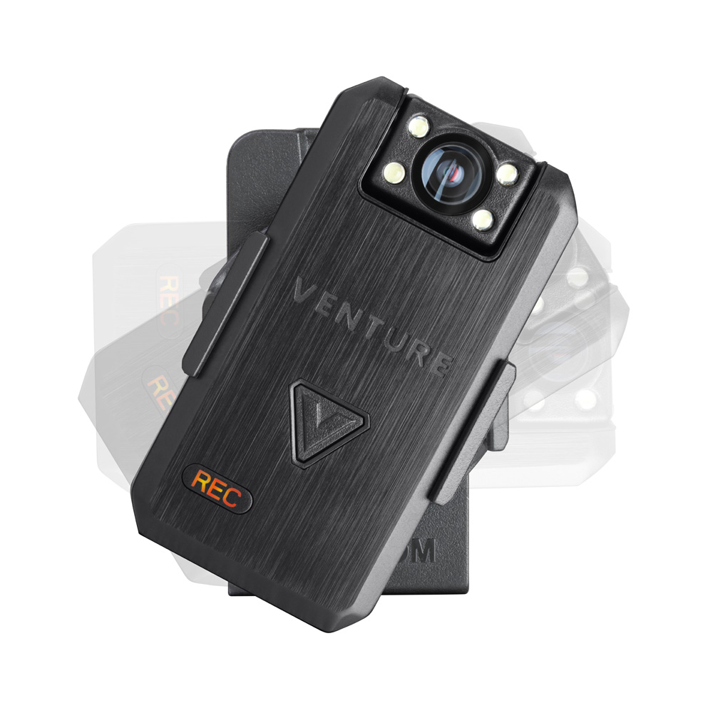 Venture bodycam mounted on a clip feature