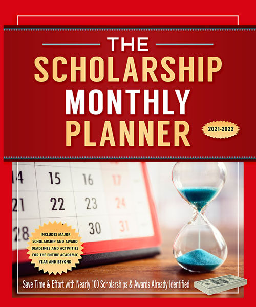 Scholarship Monthly Planner 2021-2022