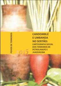 Capa de Livro: Candomblé e Umbanda no Sertão - Cartografia Social dos Terreiros de Petrolina PE e Juazeiro BA