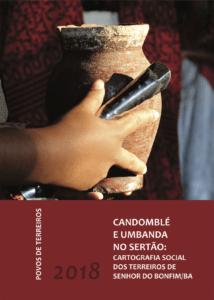 Capa de Livro: CANDOMBLÉ E UMBANDA NO SERTÃO: Cartografia Social dos Terreiros de Senhor do Bonfim/BA