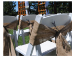 easy burlap chair sashes
