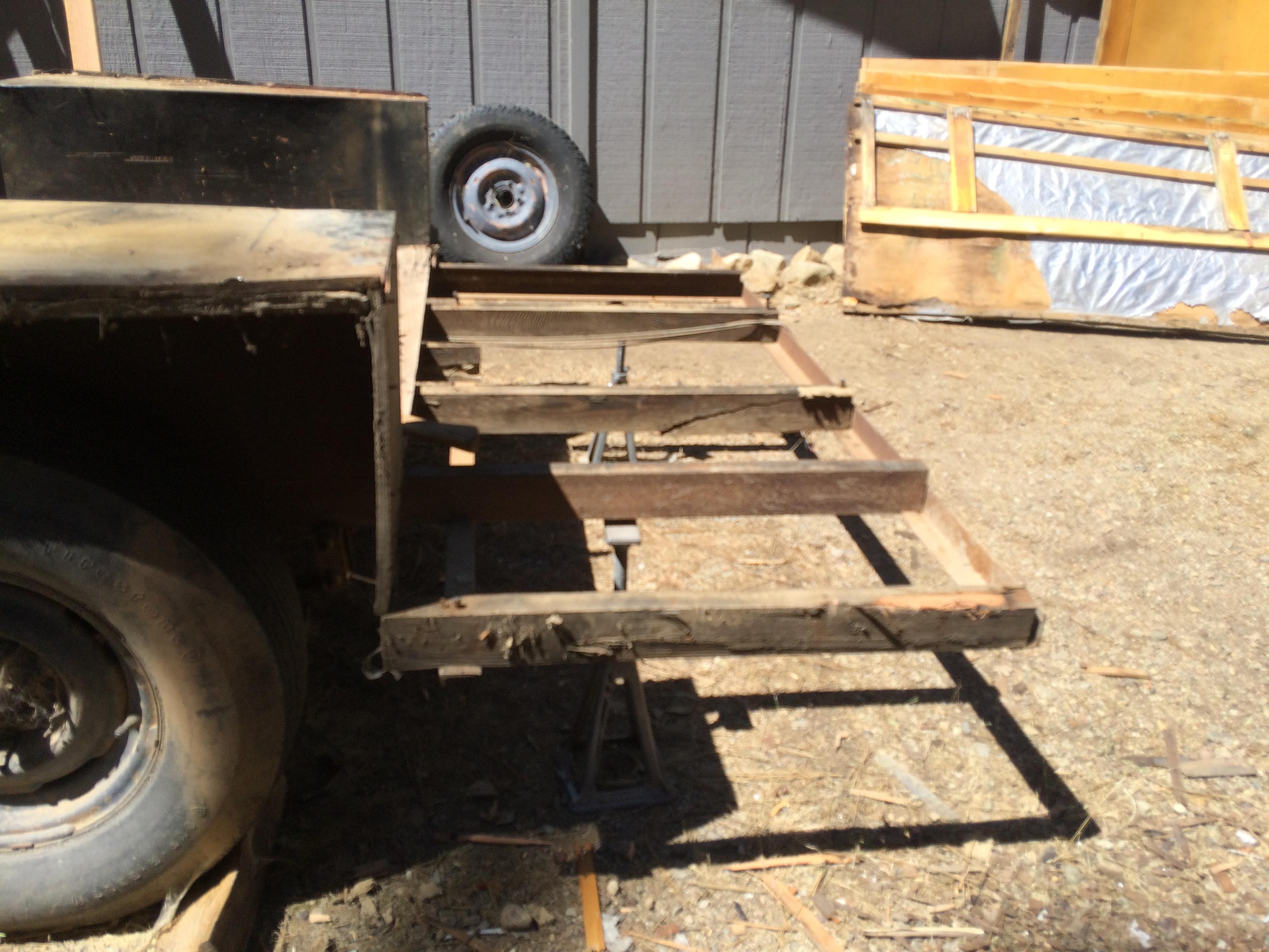 trailer frame where bed will go