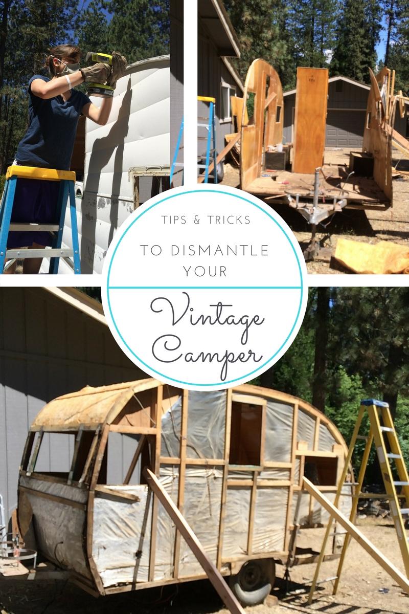 dismantling camper