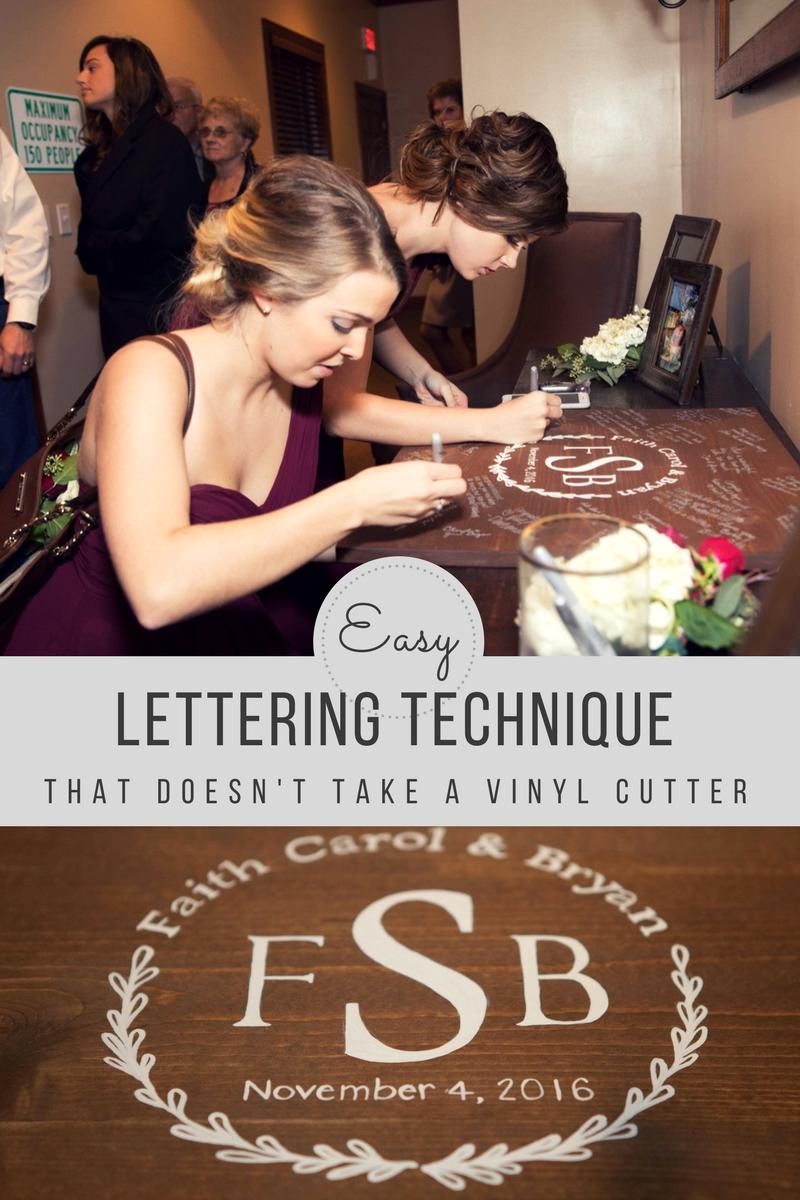 Easy lettering technique