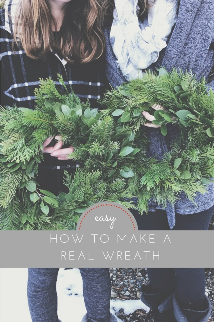 DIY wire Christmas wreath