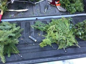 wreath, wire hanger