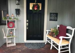 front door wit wreath