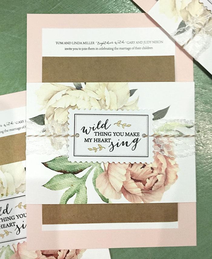 Jenna and Wade wedding invitation