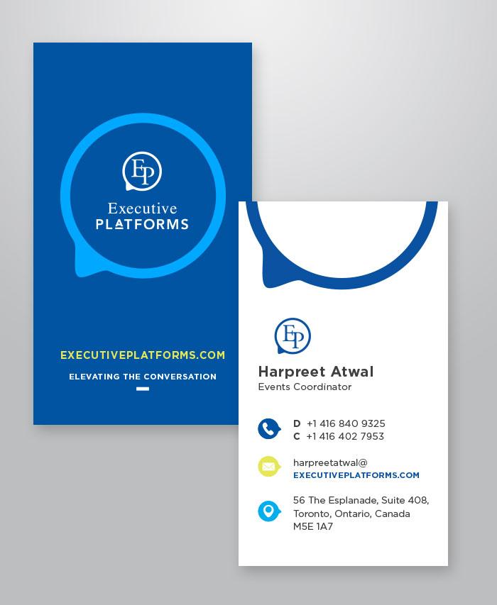 Executive Platforms business card