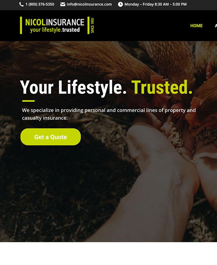 Nicol Insurance Website