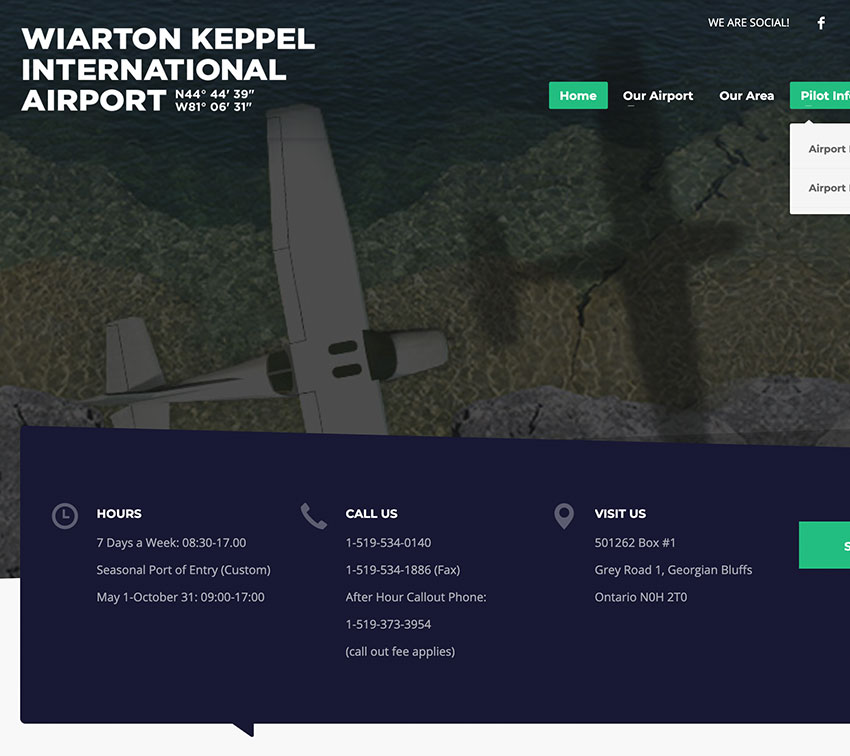Wiarton Airport website