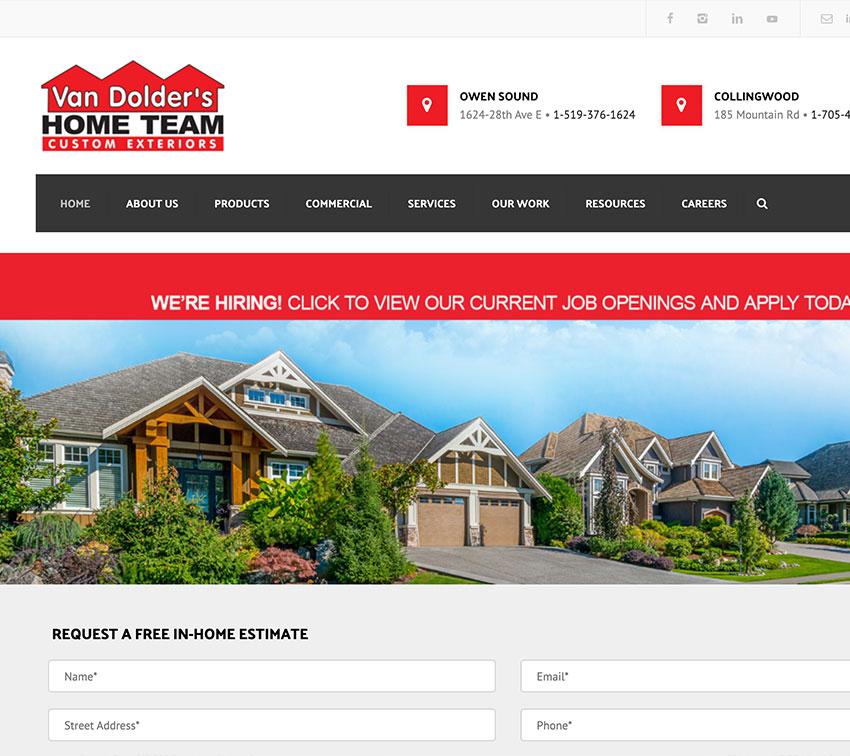 VanDolder's Custom Exteriors Website