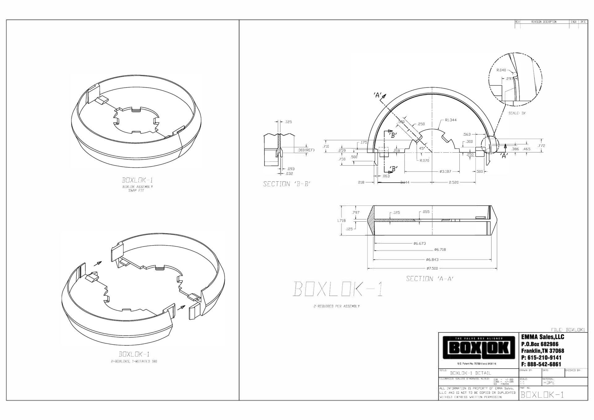 Boxlok-1 Drawing