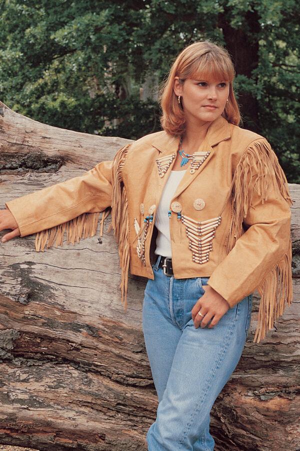 Women hand tooled jackets