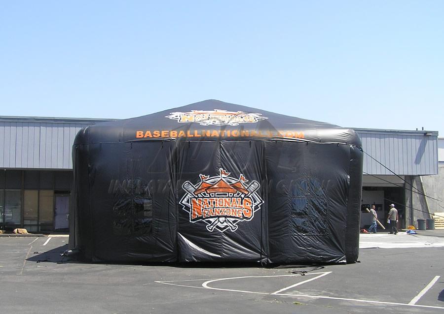 Inflatable Baseball Pavilion Side View