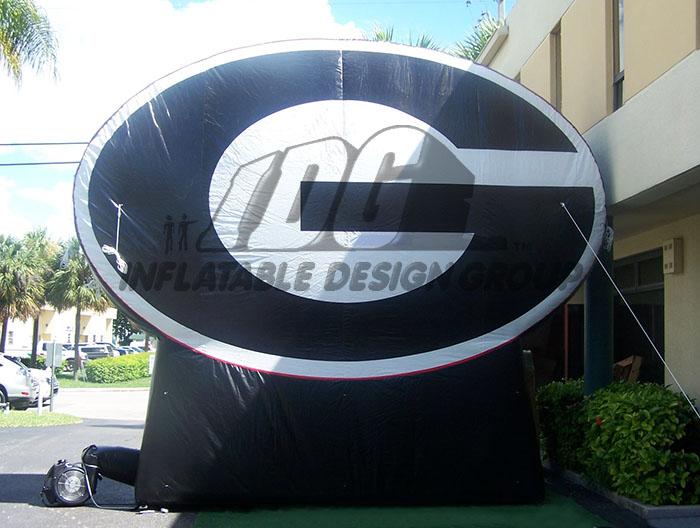 georgia custom inflatable logo block