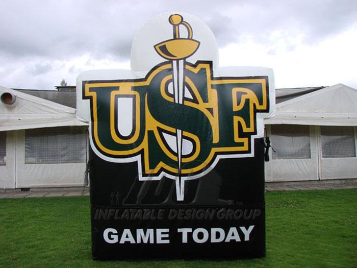 university of san francisco custom inflatable logo block