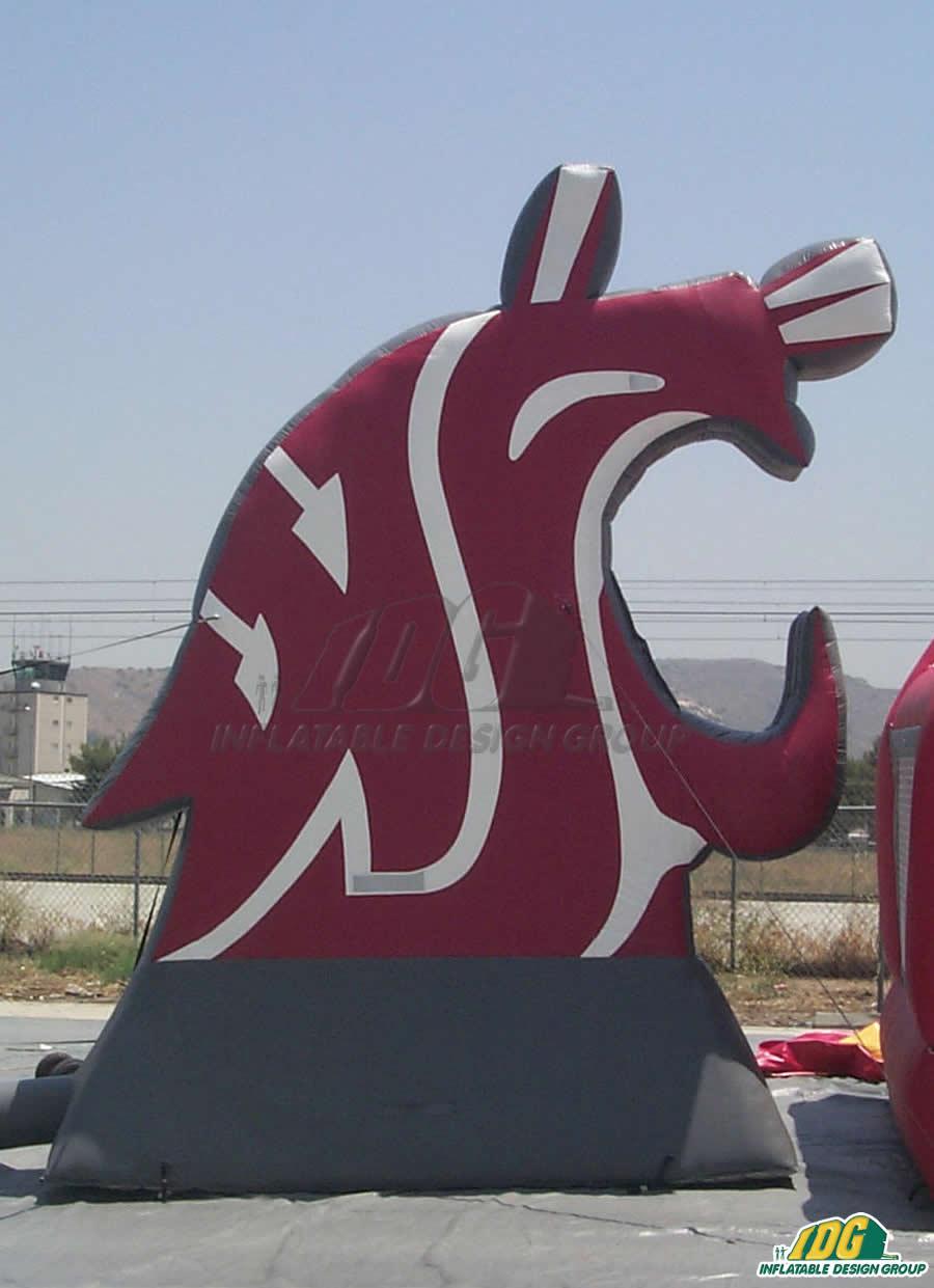 washington state custom inflatable logo block