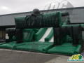 inflatable obstacle course spider green