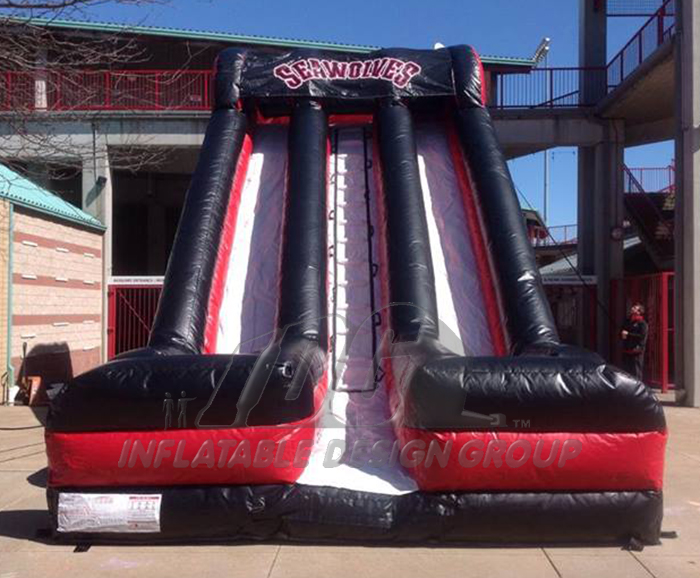 22'H Erie Seawolves Front View Inflatable slide