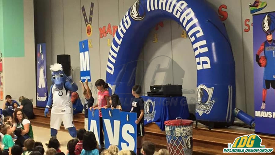 dallas mavericks custom inflatable archway