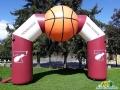 custom inflatable basketball archway