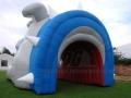 Inflatable Bulldog Head Rear View