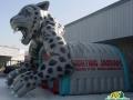 Inflatable Grey Jaguar Tunnel Side Vie