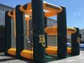custom baylor inflatable dual pass and kick interactive football game