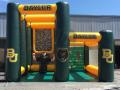 Custom Baylor dual pass and kick custom interactive football inflatable