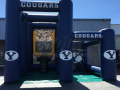 Dual Custom Inflatable Interactive Football toss and kick game