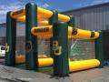dual pass and kick football interactive inflatable game custom