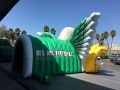 Inflatable Green Eagle Entryway Rear