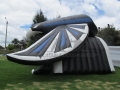 Inflatable Falcon Wing Tunnel Side View
