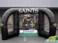 saints custom interactive inflatable game