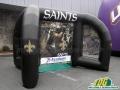 custom interactive inflatable saints football game