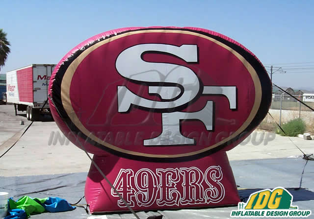 Forty Niners Logo Inflatable Wall