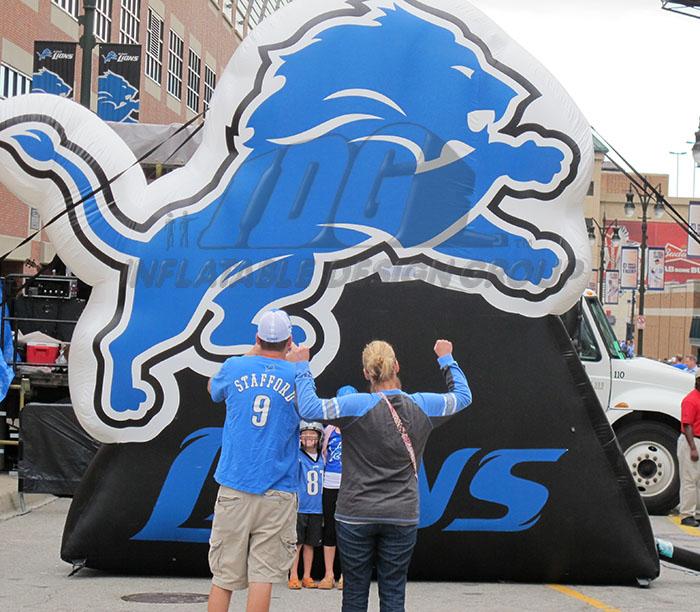 Detroit Lions Inflatable Logo