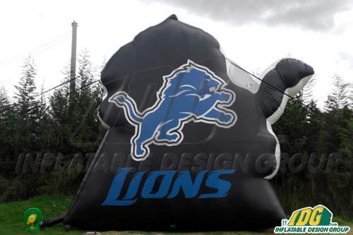 Detroit Lions Logo Wall