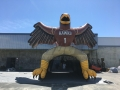 Inflatable Standing Hawk Front View