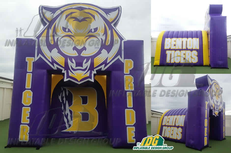 Inflatable-Combo-Arch-Tunnel-Benton-Tigers-Pride