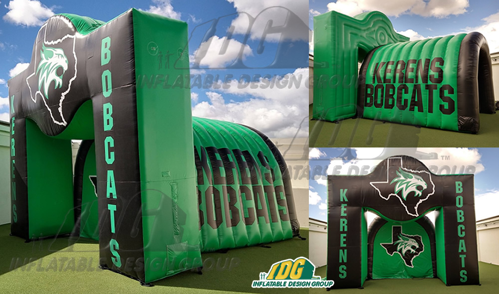 Inflatable-Combo-Arch-Tunnel-Kerens-Bobcats