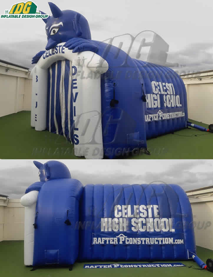 Celeste High School Inflatable Tunnel Arch Combo Devil