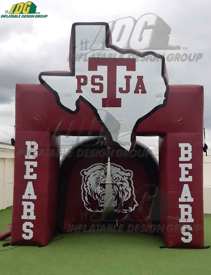 texas-highschool-custom-inflatable-arch-tunnel-combo