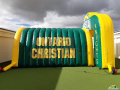 ONTARIO HS KNIGHTS custom inflatable tunnel and arch combo