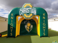 ONTARIO HS KNIGHTS custom inflatable tunnel and arch