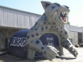 Inflatable Bobcat Mascot Tunnel